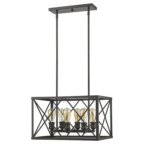 Brooklyn 6-Light Oil-Rubbed Bronze Pendant