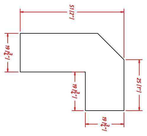 "Sonoma Mocha Light Rail Molding - 1-3/16""H x 3/4""D x 96""W"