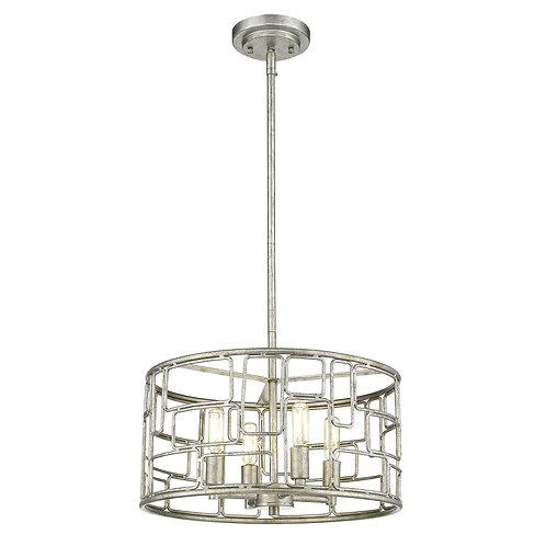 Amoret 4-Light Antique Silver Convertible Pendant