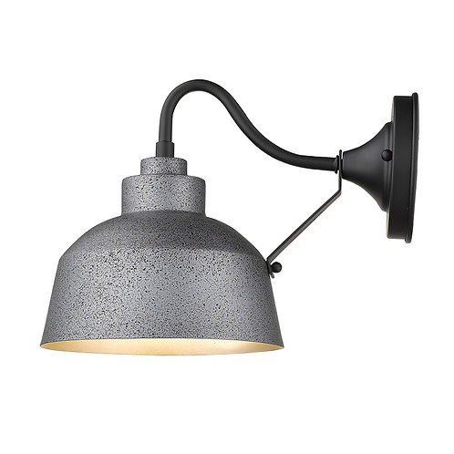 Barnes 1-Light Gray Wall Light