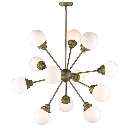 Portsmith 12-Light Raw Brass Chandelier