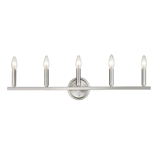 Sawyer 5-Light Satin Nickel Vanity