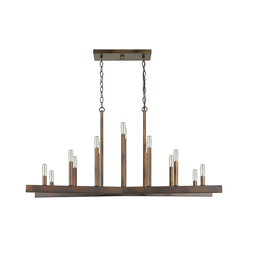 Fallon 14-Light Oil-Rubbed Bronze Island Pendant