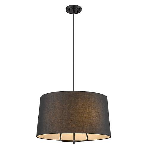 Lamia 3-Light Matte Black Mini Pendant