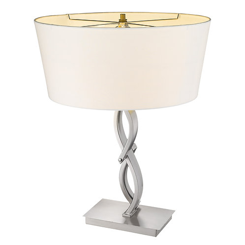 Trend Home 1-Light Satin Nickel Table Lamp