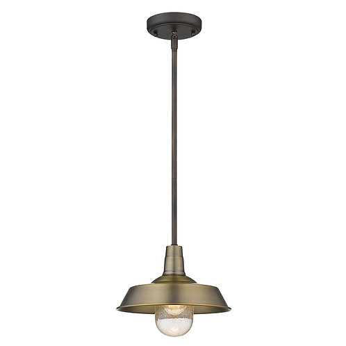 Burry 1-Light Antique Brass Convertible Pendant