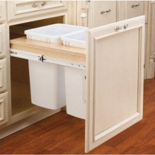 """Double 35qt Top-Mount w/Ball Bearing Soft Close Slides 14 1/2"""" Opening"""