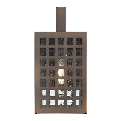 Letzel 1-Light Oil-Rubbed Bronze Wall Light