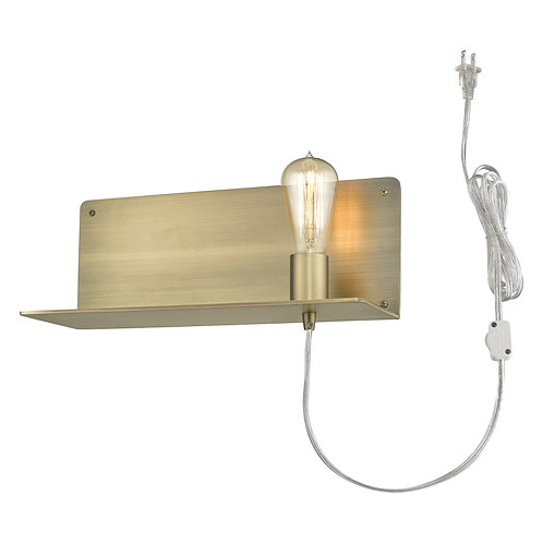 Arris 1-Light Aged Brass Sconce
