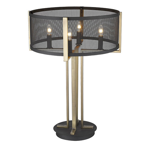 Trend Home 4-Light Matte Black Table Lamp