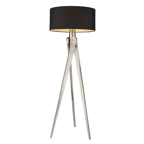 Sangallo 1-Light Satin Nickel Floor Lamp