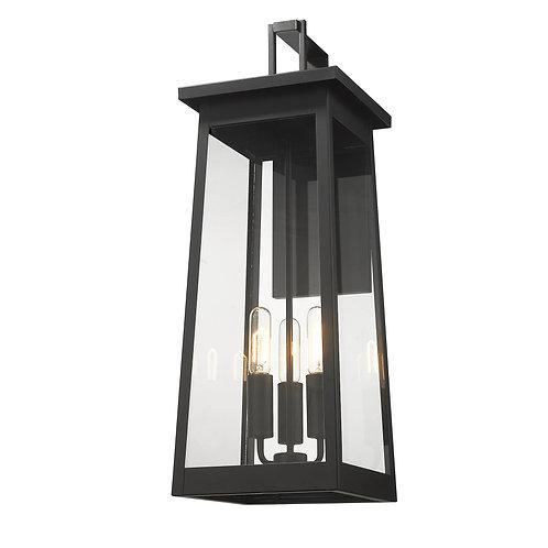 Alden 3-Light Matte Black Wall Light