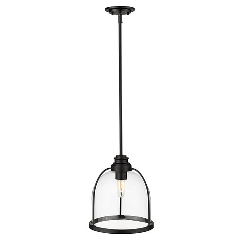 Stanton 1-Light Matte Black Pendant