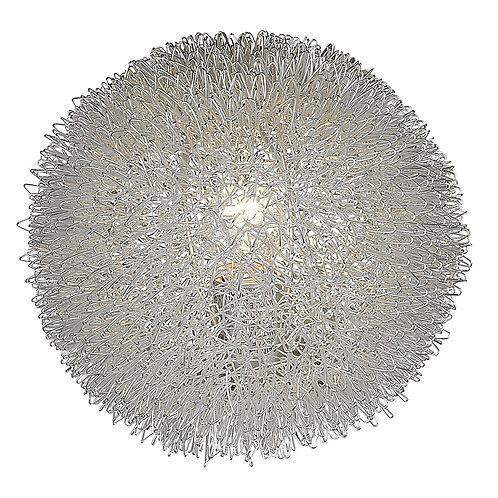 "Luminary 1-Light Metallic Silver 9"" Accent Lamp"