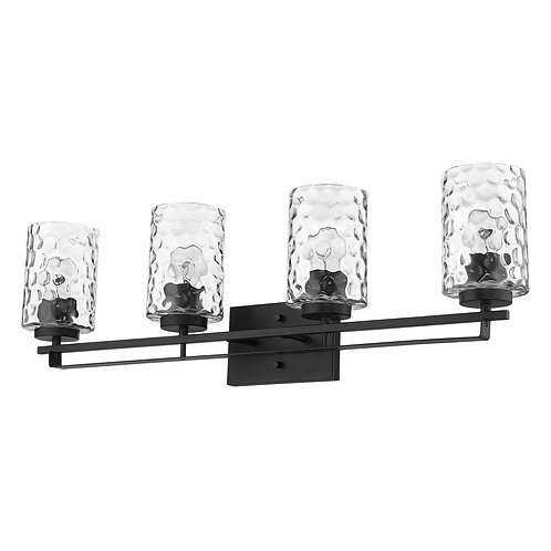 Livvy 4-Light Matte Black Vanity