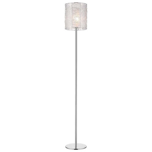Distratto 1-Light Polished Chrome Floor Lamp With Enmeshed Aluminum Wire Shade