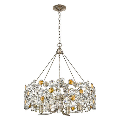 Vitozzi 4-Light Antique Silver Leaf Chandelier