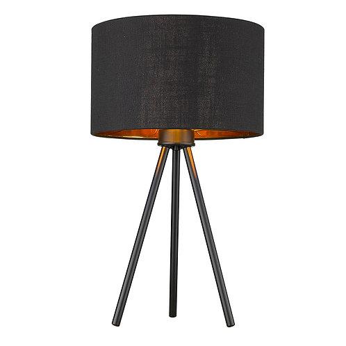 Morenci 1-Light Matte Black Table Lamp