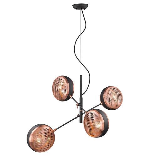 Tholos 4-Light Matte Black Pendant