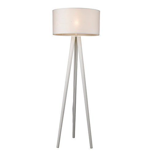 Tourer 1-Light White Floor Lamp