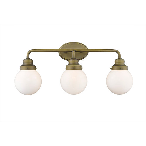 Portsmith 3-Light Raw Brass Vanity