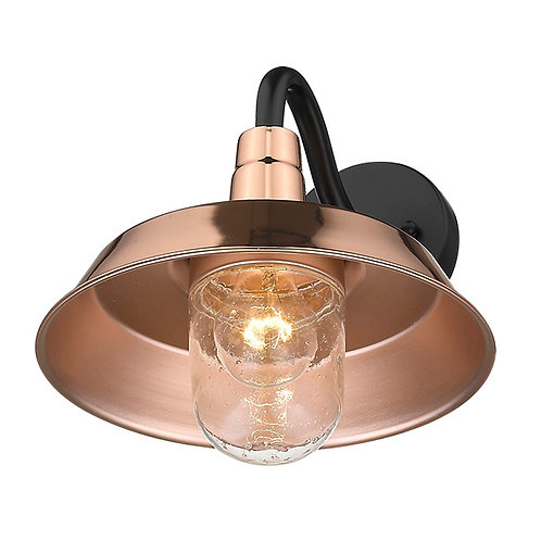 Burry 1-Light Copper Wall Light