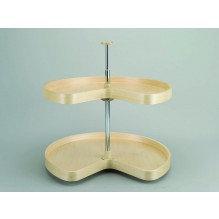 """24"""" Banded Wood Tray 2 Shelf Kit w/Hardware"""