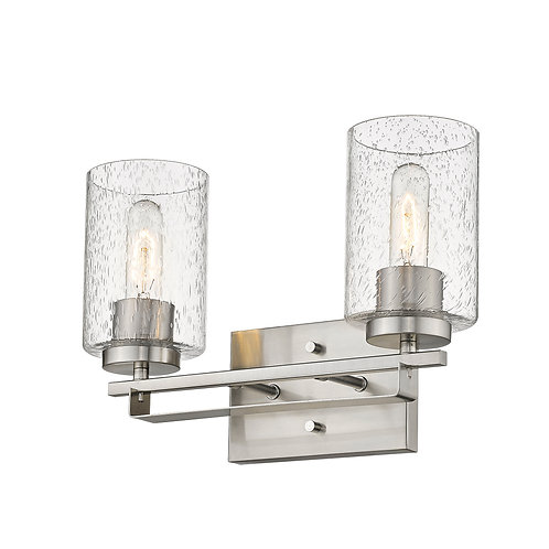 Orella 2-Light Satin Nickel Vanity