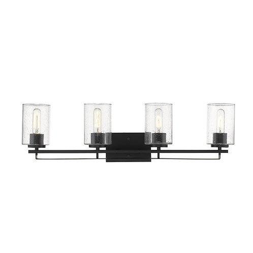 Orella 4-Light Matte Black Sconce