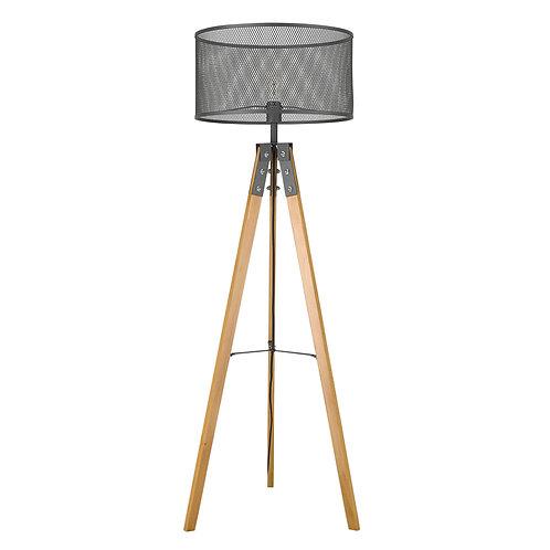 Capprice 1-Light Matte Black Floor Lamp