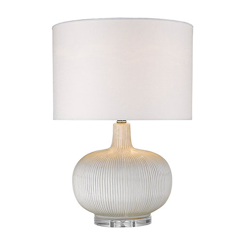 Trend Home 1-Light Polished Nickel Table Lamp