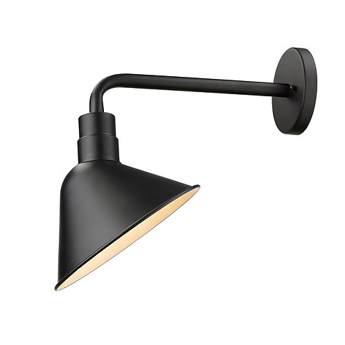 Fuller 1-Light Matte Black Wall Light