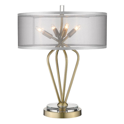 Perret 4-Light Aged Brass Table Lamp