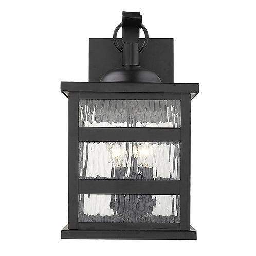 Morris 3-Light Matte Black Wall Light