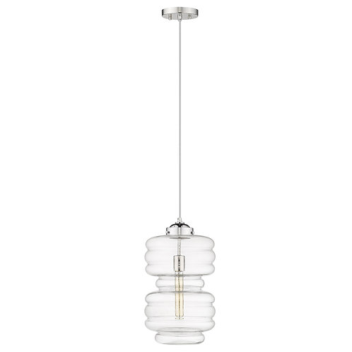 Ballina 1-Light Polished Nickel Mini-Pendant
