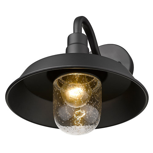 Burry 1-Light Matte Black Wall Light