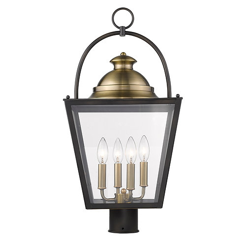Savannah 4-Light Oil-Rubbed Bronze Post Mount Light