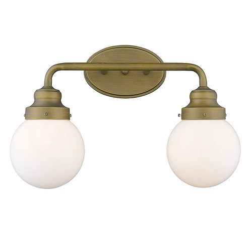 Portsmith 2-Light Raw Brass Vanity