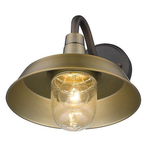 Burry 1-Light Antique Brass Wall Light