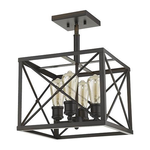 Brooklyn 4-Light Oil-Rubbed Bronze Convertible Pendant