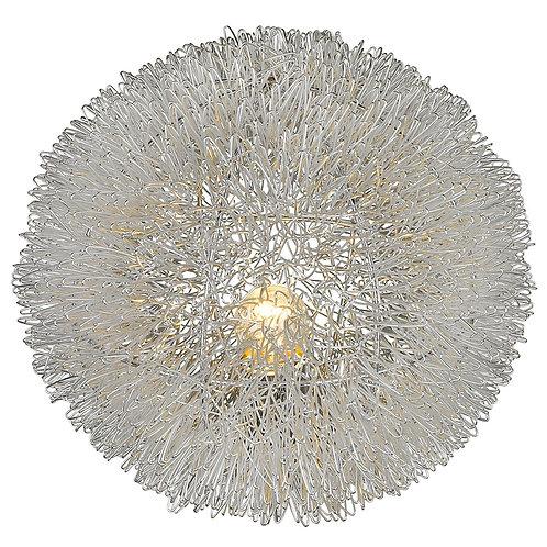"Luminary 1-Light Metallic Silver 15"" Accent Lamp"