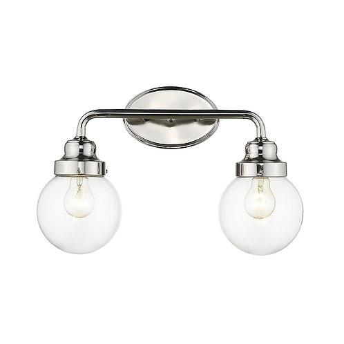 Portsmith 2-Light Polished Nickel Vanity