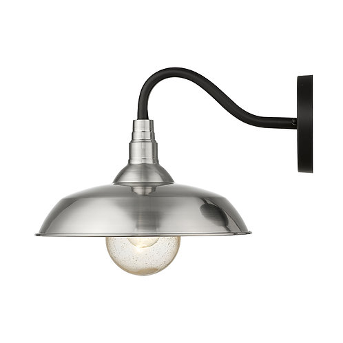 Burry 1-Light Satin Nickel Wall Light
