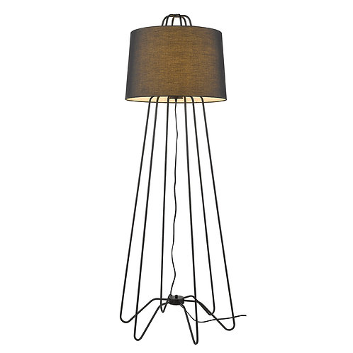 Lamia 1-Light Matte Black Floor Lamp