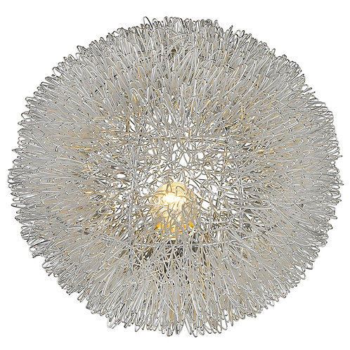 "Luminary 1-Light Metallic Silver 12"" Accent Lamp"