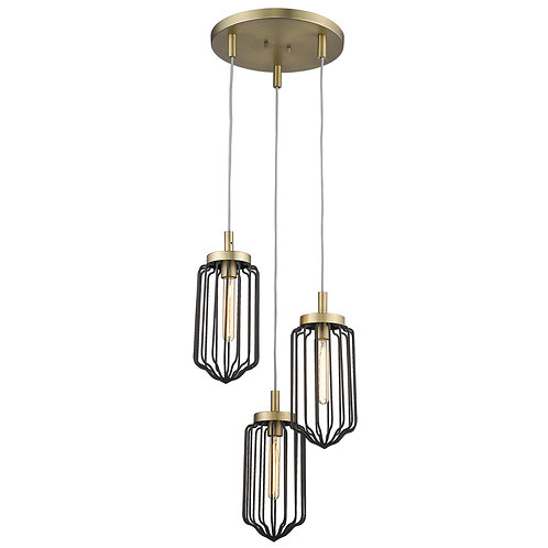 Reece 3-Light Aged Brass Chandelier