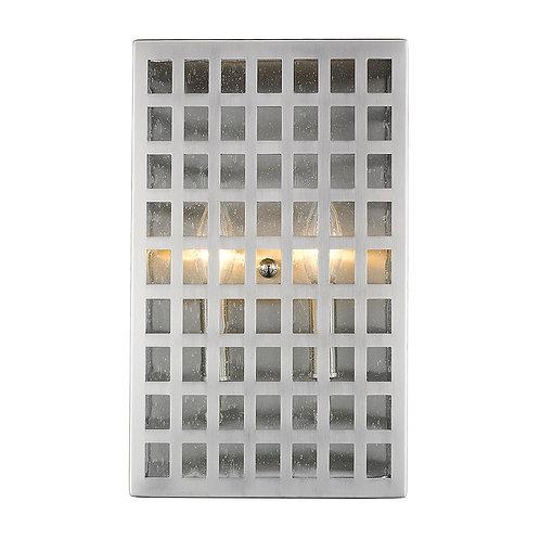Letzel 2-Light Satin Nickel ADA Wall Sconce