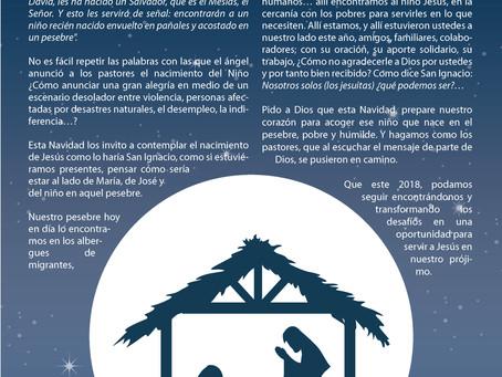 Mensaje de Director P. Sergio Cobo, S.J. Navidad 2017