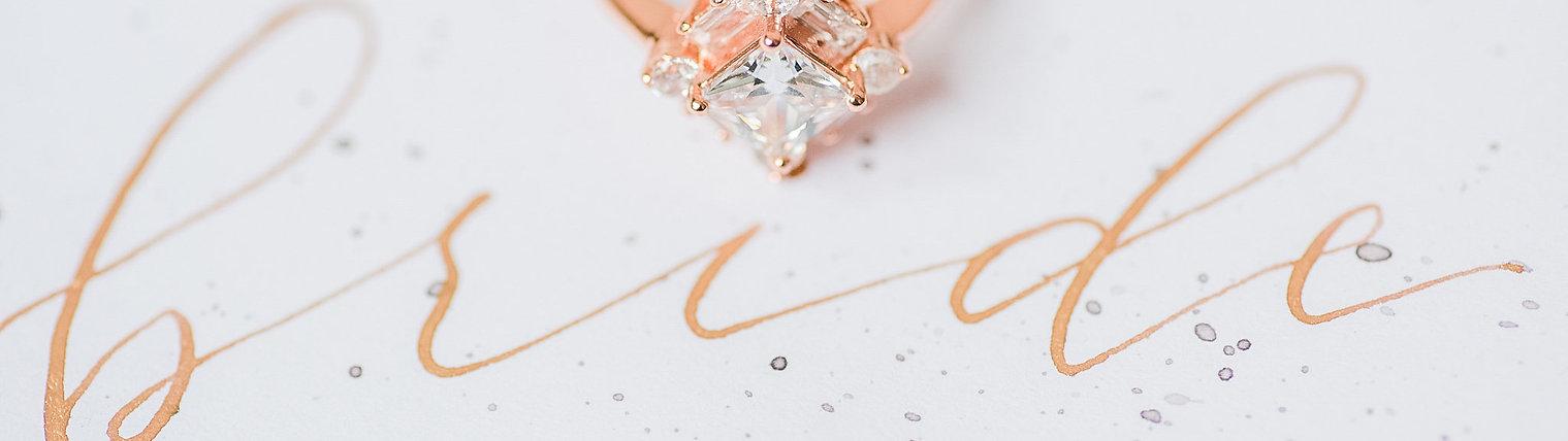 Custom Wedding Place Card - Ms. Peach Plus Designs