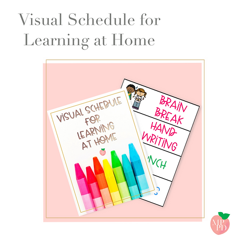 Visual Schedules for Learning at Home